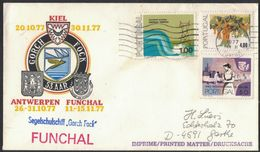 """N76   Portugal 1977 Letter From Funchal From The Sail Training Ship """"Gorch Fock"""" - 1910-... Republik"""