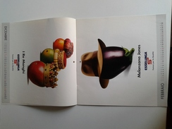 Alt1024 Calendario Kalender Calendrier Calendar Esselunga Mall Supermercato Verdura Frutta Fruit Vegetables 2003 - Calendars