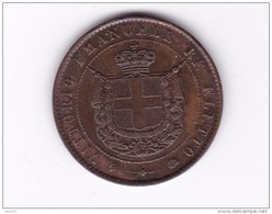 Italie - Toscane - 5 Centesimi 1859 - TTB/SUP - Regional Coins
