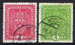 Österreich 1917 Mi 205-206 I, Gestempelt [090118XVIII] - 1850-1918 Empire