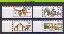 Ncf114 UITVINDINGEN BRUG BIJL PAARD HARNAS INVENTIONS ARMOUR HORSE ACE ARCH AQUEDUCT BRIDGE VENDA 1993 PF/MNH - Postzegels