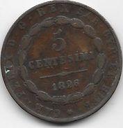 Italie - Sardaigne - 5 Centesimi 1826 - Regional Coins