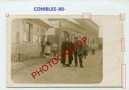 COMBLES-Couple-Civils-Vieillards-CARTE PHOTO Allemande-Guerre 14-18-1 WK-France-80-Feldpost- - Combles