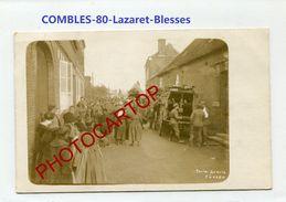 COMBLES-Ambulance-LAZARET-Blesses-Medecine-CARTE PHOTO Allemande-Guerre 14-18-1 WK-France-80-Feldpost- - Combles