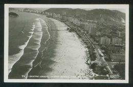 Brasil. Santos. *Vista Aérea Das Praias* Foto Colombo Nº 74. Circulada 1960. - Brasil