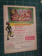 CLIP1116 : PUBLICITE BISCOTTES  REINETTE OCEANORAMA , 1 Page Découpée Dans Une Revue Spirou Des Années 60/70 - Advertising
