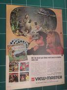 CLIP1116 : Page Publicitaire VIEW-MASTER  Découpée Dans Une Revue Spirou Des Années 60 - Advertising