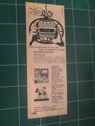 CLIP1116 : Page Publicitaire VIEW-MASTER  Découpée Dans Une Revue Spirou Des Années 60 , 1/2 Page A4 - Advertising