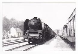 91 Boutigny Vers La Ferté Allais PHOTO Originale Train Voyageurs Locomotive Vapeur SNCF 141 P 3? Le 29/07/1951 VOIR DOS - Eisenbahnen