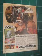 CLIP1116 : Page Publicitaire VIEW-MASTER  Découpée Dans Une Revue Spirou Des Années 60 ,  Page A4 - Advertising