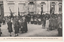 La Procession Devant Le Château De Lormoy-Au Centre Le Cardinal Dubois-Archeveque De Paris. - France