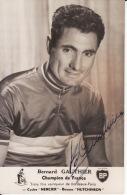 Cyclisme, Bernard Gauthier, Champion France,  Bordeaux - Paris ,dédicacée , Cycles Mercier - Radsport