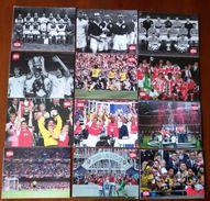 Arsenal London Gunners Set 12 Postcards - Set 12 Cartoline FA CUP Postales / Carte Postale - Calcio