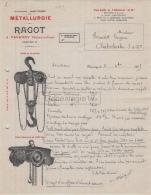 95 265 TAVERNY SEINE OISE 1915 Metallurgie RAGOT Palans Treuils A BERNARD EUGENE De CHABRELOCHE - France