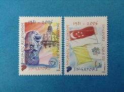 2006 SINGAPORE FRANCOBOLLI NUOVI STAMPS NEW MNH** - RELAZIONI DIPLOMATICHE CONGIUNTA VATICANO - Singapore (1959-...)