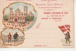 Expo De 1900-Parfumerie Des Galeries St Martin-Islande-Repiquage. - Expositions