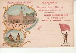 Expo De 1900-Parfumerie Des Galeries St Martin-Achantis-Repiquage. - Expositions