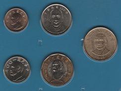 TAIWAN SET 5 MONNAIES 1 DOLLAR - 50 DOLLARS BIMETAL - Taiwan
