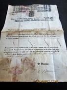 PORTUGAL - 1840 Carta De Saude Do DIRECTOR D'ALFANDEGA DE SETUBAL -Navio Em Viagem - Ao Dorso Certificacao Dos Portos - Documentos Históricos
