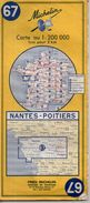 Michelin 67- Nantes-Poitiers - 1970 - Roadmaps