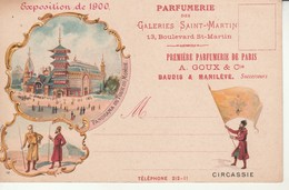 Expo De 1900-Parfumerie Des Galeries St Martine-Circassie-Repiquage. - Expositions