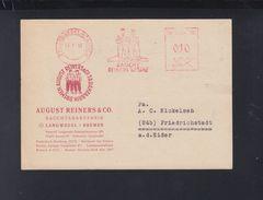Alliierte Besetzung PK 1949 Freistempel Reiners Rauchtabakfabrik - Bizone