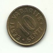 1996 - Estonia 10 Sent, - Estonia
