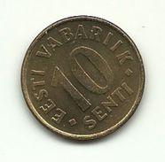 1996 - Estonia 10 Sent, - Estonie