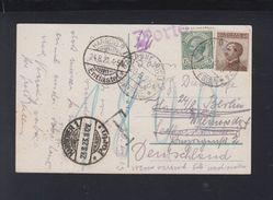 Italien AK Gardone Nach Deutschland Hannover Porto Und Entlastet 1923 - Briefe U. Dokumente