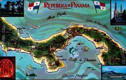 PANAMA, MAPA - LA TIERRA DIVIDIDA - EL MUNDO UNIDO  [27637] - Panama