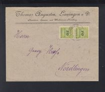 Dt. Reich 10 Milliarden Paar Auf Brief Lauingen - Deutschland