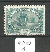APO YT 1 (*) - Afrique Portugaise
