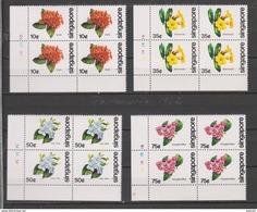 Yvert 361 / 364 ** Neuf Sans Charnière Bloc De 4 Fleurs Flowers - Singapour (1959-...)
