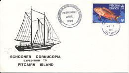 Pitcairn Islands Cover Ccarried On Board Schooner CORNUCOPIA February - April 1984 - Briefmarken