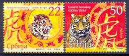SRB 2010-333-4 LUNAR HOROSCOPE YEAR OF THE TGER, SERBIA, 1 X 2v, MNH - Astrologie