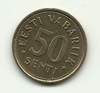 1992 - Estonia 50 Senti, - Estonie