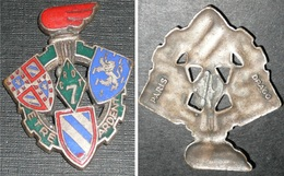 """Ancien Insigne émaillé, Militaire 7e CRIOT, Drago Paris, """"Etre Ardent"""" Ecussons Flamme, Train - Autres"""