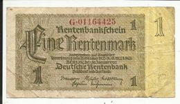 GERMANY , ALLEMAGNE , 1 Rentenmark , 30.1.1937 , Type : 8 Chiffres , N° World Paper Money : 173 B - [ 4] 1933-1945 : Third Reich