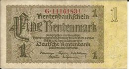 GERMANY , ALLEMAGNE , 1 Rentenmark , 30.1.1937 , Type : 8 Chiffres , N° World Paper Money : 173 B - Other