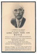 Doodsprent / Burgemeester / Gistel / 1962 - Andachtsbilder