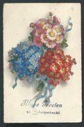 +++ CPA - Carte Fantaisie - Myne Groeten Uit SCHERPENHEUVEL - Klein ? -  Fleur Rose - Myosotis - Flower  // - Scherpenheuvel-Zichem
