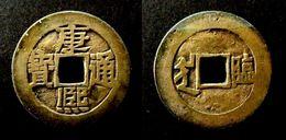 CHINA - KANG XI TONG BAO - Rev : LIN  - (1667-1675) Brass  QING DYNASTY - CHINE - China