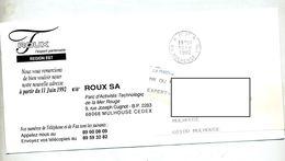 Carte Cachet Mulhouse Port Payé - Marcophilie (Lettres)