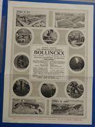 Usines Bollinckx à Buysinghen Près Bruxelles : Compresseurs D'air  -  1922 - Belgique