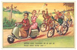 Cp Humour, Scooter, Vélos - Andere Illustrators