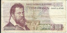BELGIQUE , 100 Francs , 28.01.1970 , N° World Paper Money : 134 A - [ 2] 1831-... : Belgian Kingdom