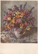 Carte Postale Ancienne Fantaisie - Fleurs - Timbre Et Marque Postale Suisses - Fantaisies