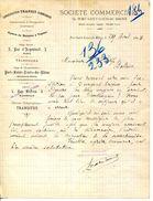 13.BOUCHES DU RHONE.PORT SAINT LOUIS.AGENCE DE BATEAUX A VAPEUR.SOCIETE COMMERCIALE DE PORT SAINT LOUIS. - Trasporti