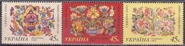 Ukraine 2002 Persönlichkeiten Kunst Kultur Gemälde Blumen Flowers Hanna Sobatschko-Schostak, Mi. 523-5 ** - Ukraine