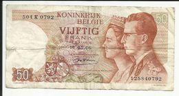 KONINKRIJK BELGIE , 50 Franks , 16.05.1966 , N° World Paper Money : 139 B - [ 2] 1831-... : Royaume De Belgique